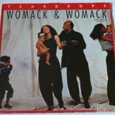 Discos de vinilo: WOMACK & WOMACK - TEARDROPS - 1988. Lote 179963340