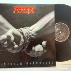 Discos de vinilo: DISCO LP VINILO ACCEPT – OBJECTION OVERRULED PRIMERA EDICION HOLANDESA DE 1993. Lote 179964905