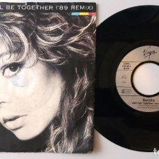 Discos de vinilo: SANDRA / WE'LL BE TOGETHER ('89 REMIX) / SINGLE 7 INCH. Lote 180006735