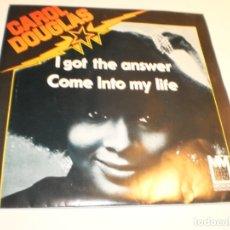 Discos de vinilo: SINGLE CAROL DOUGLAS. I GOT THE ANSWER. COME INTO MY LIFE. MIDSONG 1979 (PROBADO, BIEN, SEMINUEVO). Lote 180008932