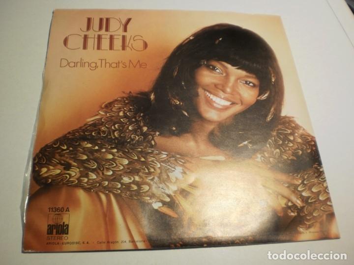 Discos de vinilo: single judy cheeks. mellow lovin'. darling, that's me. ariola 1978 (probado, bien, seminuevo) - Foto 2 - 180009282
