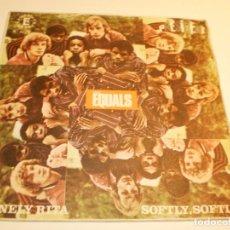 Discos de vinilo: SINGLE EQUALS. LONELY RITA. SOFTLY, SOFTLY. PRESIDENT 1968 SPAIN (PROBADO Y BIEN, BUEN ESTADO). Lote 180011665
