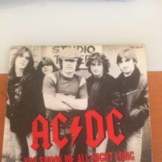 Discos de vinilo: AC DC YOU SHOOK ME ALL NIGHT LONG AÑO 1980. Lote 180011913