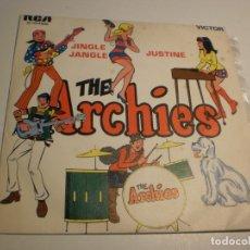 Discos de vinilo: SINGLE THE ARCHIES. JINGLE JANGLE. JUSTINE. RCA 1969 SPAIN (PROBADO Y BIEN, SEMINUEVO). Lote 180011940