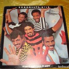 Discos de vinilo: CHOCOLATE MILK. WHO´S GETTING IT NOW. MAXI-SINGLE. RCA, 1983. SPAIN. IMPECABLE (#). Lote 180018793