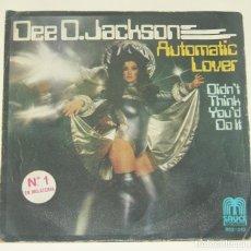 Discos de vinilo: DEE D. JACKSON – AUTOMATIC LOVER / DIDN'T THINK YOU'D DO IT, SAUCE INTERNACIONAL – BSS-013, 1978.. Lote 180024343