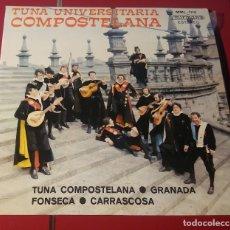 Discos de vinilo: TUNA UNIVERSITARIA COMPOSTELANA. GRANADA, FONSECA Y CARRASCOSA. MIRMAN´S 1975. BIEN CONSERVADO.. Lote 180031577