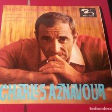 Discos de vinilo: CHARLES AZNAVOUR. VENECIA SIN TI, CUANDO NO PUEDA MAS Y SI VIENE A MI. BARCLAY 1965.. Lote 180032747