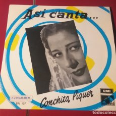 Discos de vinilo: CONCHITA PIQUER. LA NIÑA DE PUERTA OSCURA, SALERO DE ESPAÑA, CON DIVISA.... EMI LA VOZ DE SU AMO.. Lote 180033096