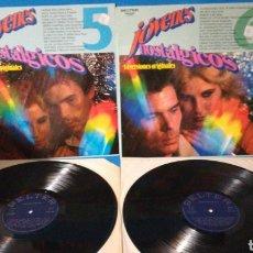 Discos de vinilo: LOTE DE 2 LPS - JÓVENES NOSTÁLGICOS VOL. 5 Y 6. Lote 180033276