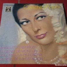 Discos de vinilo: CONCHITA PIQUER. ANGELITOS NEGROS, EUGENIA DE MONTIJO, DOLOR.......EMI LA VOZ DE SU AMO 1971.. Lote 180033523