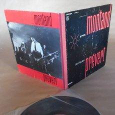 Discos de vinilo: YVES MONTAND CHANTE JACQUES PREVERT. LP. FUNDA EN CARTÓN RÍGIDO CON LOMO ENTELADO. PHILIPS. Lote 180045232