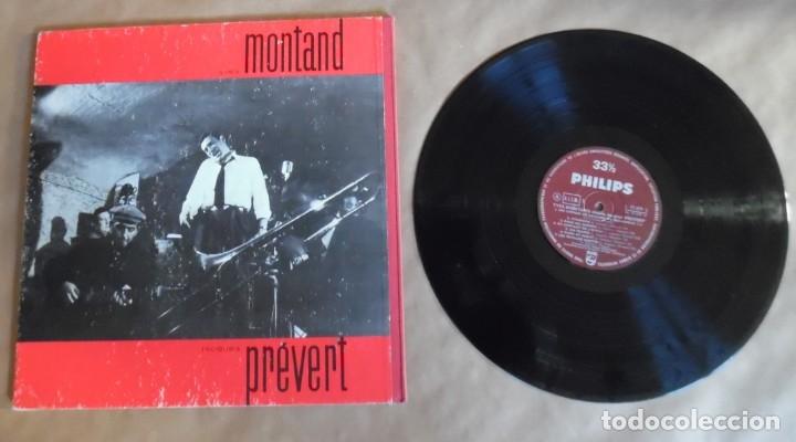 Discos de vinilo: Yves Montand chante Jacques Prevert. LP. Funda en cartón rígido con lomo entelado. Philips - Foto 7 - 180045232