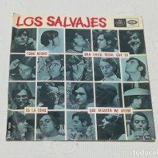 Discos de vinilo: E.P.: LOS SALVAJES · TODO NEGRO / UNA CHICA IGUAL QUE TÚ / ES LA EDAD / QUE ALGUIEN ME AYUDE ·. Lote 180051685