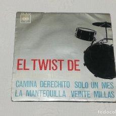Discos de vinilo: E.P.: EL TWIST DE LOS LOCOS DEL RITMO - CAMINA DERECHITO / SÓLO UN MES / LA MANTEQUILLA / 20 MILLAS . Lote 180052193