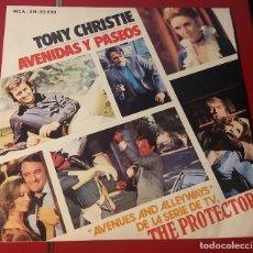 Discos de vinilo: TONY CHRISTIE. AVENIDAS Y PASEOS DE LA SERIE TV THE PROTECTORS. MCA 1972.. Lote 180074542