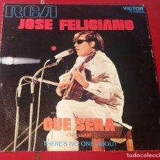 Discos de vinilo: JOSE FELICIANO. QUE SERA Y THERE¨S NO ONE ABOUT. VICTOR 1971.. Lote 180079547