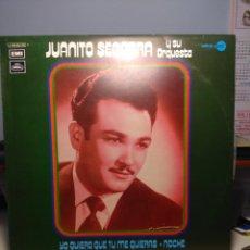 Discos de vinilo: LP JUANITO SEGARRA Y SU ORQUESTA ( JUANITO SEGARRA CANTA BOLEROS, MAMBOS Y CHA-CHA-CHAS ). Lote 180084433