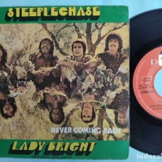 Discos de vinilo: STEEPLECHASE - DEAN PARRISH - 45 SPAIN PS - NORTHERN SOUL - NEVER COMING BACK / LADY BRIGHT. Lote 180089526