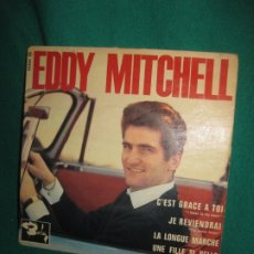 Discos de vinilo: EDDY MITCHELL. C'EST GRACE A TOI + 3. EP. BARCLAY. 70.564 M. . Lote 180089602
