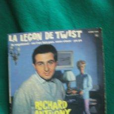 Discos de vinilo: RICHARD ANTHONY LA LEÇON DE TWIST + 3. COLUMBIA. ESRF 1349.. Lote 180091883
