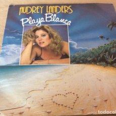 Discos de vinilo: AUDREY LANDERS - PLAYA BLANCA / HAPPY ENDINGS. ARIOLA 1983 ED. ALEMANA.. Lote 180095716