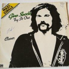Discos de vinilo: GINO SOCCIO - TRY IT OUT - 1981. Lote 180104931