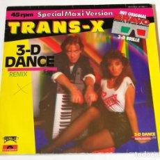 Discos de vinilo: TRANS-X - 3-D DANCE (REMIX) - 1984. Lote 180104997