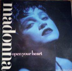 Disques de vinyle: MADONNA OPEN YOUR HEART. Lote 180106233
