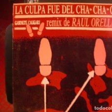 Discos de vinilo: GABINETE CALIGARI REMIX RAUL ORELLANA- LA CULPA FUE CHA CHA CHA. MAXISINGLE.. Lote 180106697