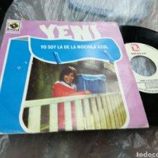 Discos de vinilo: YENI SINGLE YO SOY LA DE LA MOCHILA AZUL ESPAÑA 1979. Lote 180106923