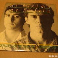 Discos de vinilo: EL ÚLTIMO DE LA FILA SINGLE 45 RPM YO NO DANZO AL SON DE LOS TAMBORES PDI ESPAÑA 1988 + ENCARTE. Lote 180113706