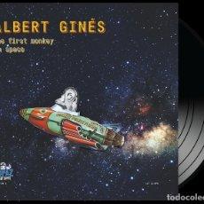 Discos de vinilo: LP ALBERT GINES THE FIRST MONKEY IN SPACE VINILO SURF TOPAZ HIT LABEL LTD 300. Lote 180116458