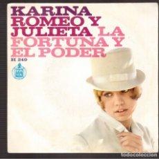 Discos de vinilo: SINGLES ORIGINAL KARINA. Lote 180124250