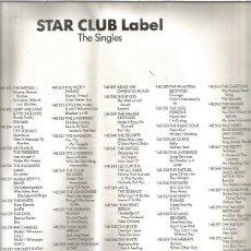 Discos de vinilo: STAR CLUB LABEL INSERT. Lote 180128631