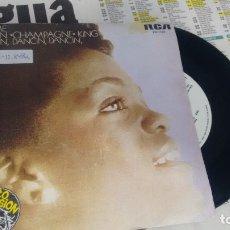 Discos de vinilo: SINGLE ( VINILO) -PROMOCION-DE EVELYN CHAMPAGNE KING AÑOS 70. Lote 180130208