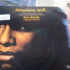 Discos de vinilo: SINGLE ( VINILO) DE STEPHANIE MILLS CON TEDDY PENDERGRASS AÑOS 80. Lote 180132097