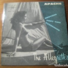Dischi in vinile: THE ALLEGRETTES - APACHE + 3 ****** MARFER 1964 EP ESPAÑOL ROCK AND ROLL SURF. Lote 180132846