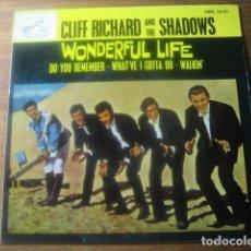 Discos de vinilo: CLIFF RICHARD & THE SHADOWS - WONDERFUL LIFE **** RARO EP ESPAÑOL 1964. Lote 180135277