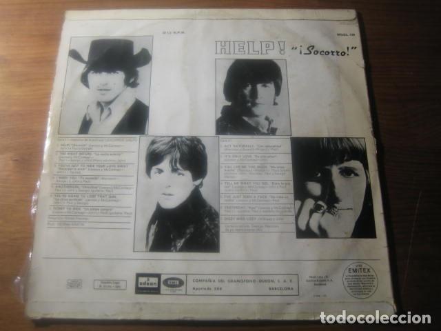 Discos de vinilo: THE BEATLES - Help *********** RARO LP ESPAÑOL MONO 1965 - Foto 2 - 180138773