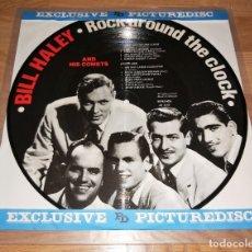 Discos de vinilo: BILL HALEY LP PICTURE DISC,ORIG. DENMARK 1985 -ELVIS PRESLEY-BUDDY HOLLY-R'N'R * RARO*. Lote 180146936