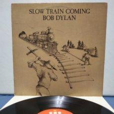 Discos de vinilo: BOB DYLAN - SLOW TRAIN COMING 1979 ED HOLANDESA CON ENCARTE. Lote 180149993