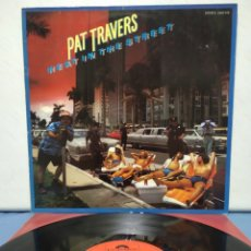 Discos de vinilo: PAT TRAVERS - HEAT IN THE STREETS 1978 ED ALEMANA CON ENCARTE. Lote 180150023