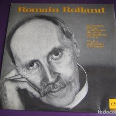 Discos de vinilo: ROMAIN ROLLAND - L'ENCYCLOPEDIE SONORE - JEAN CHRISTOPHE - COLAS BREUGNON - LP AUDIO LIBRO FRANCIA. Lote 180152000