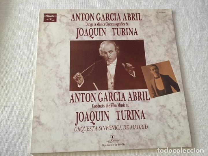 L.P VINILO ANTON GARCIA ABRIL DIRIGE LA MUSICA CINEMATOGRAFICA DE JOAQUIN TURINA ORQUESTA SINFONICA (Música - Discos - Singles Vinilo - Bandas Sonoras y Actores)