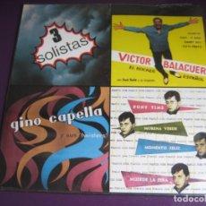 Discos de vinilo: JOSÉ FRANCIS, VICTOR BALAGUER, GINO CAPELLA LP ALLIGATOR 1988 - HISTORIA POP ESPAÑOL - ROCK N ROLL. Lote 180155497