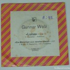 Discos de vinilo: GUNNAR WELZ – LUISA - HANSA – 12 985 AT - 1973 GERMANY. Lote 180156095