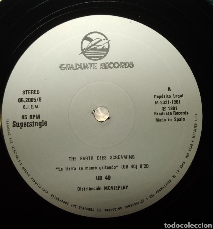 Discos de vinilo: UB40 - The hearth dies screaming ( La tierra se muere gritando) - Foto 2 - 180156698