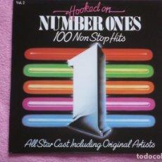 Discos de vinilo: HOOKED ON NUMBER ONES,100 NON STOP HITS EDICION ESPAÑOLA DEL 88. Lote 180157112