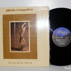 Discos de vinilo: ALICIA MAGUIÑA - LA VOZ DE LA TIERRA - LP ODEÓN ELP02.01.179 PERÚ 1974 NM/EX. Lote 180158220
